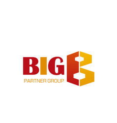 partner group big icon vector image