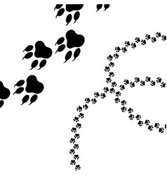 paw logo or cat and dog animal pet paw vector image