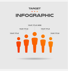 Personal growth target infographics vector