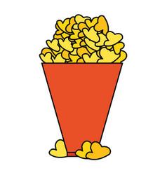 Popcorn cinema snack vector