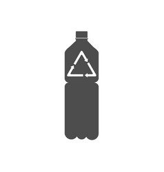 recyclable plastic recycled bottle icon vector image