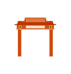 Red taiwan arch icon flat style vector