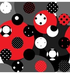 Retro red polka dot vector
