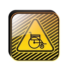 Road sign design with wheelchair vector