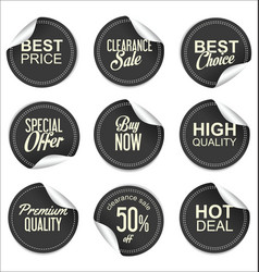 sale price gray tag collection vector image