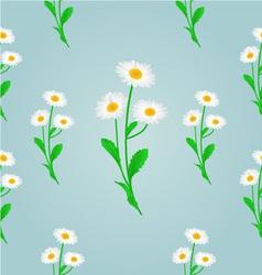 Seamless texture daisy spring blue background vector
