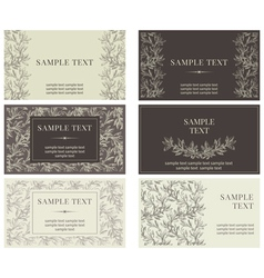 Set business cards vector