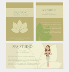 set of spa studio business cards vector image