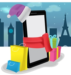 Smartphone Mobile Shopping Buy Sale vector image
