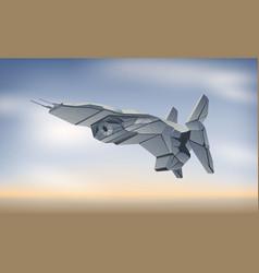 Spaceship in atmosphere vector