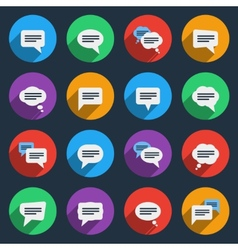 Speech bubble icons in flat style vector image