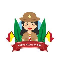 Stock of pramuka day vector