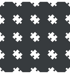 Straight black puzzle piece pattern vector