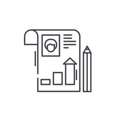 student profile line icon concept student profile vector image