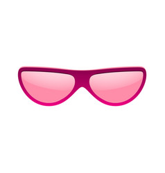sunglasses icon pink sun glasses isolated white vector image