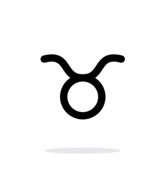 Taurus zodiac icon on white background vector image