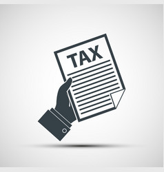 tax declaration vector image