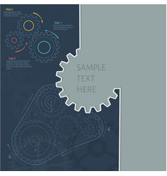 technology background with gear wheel gears belt vector image