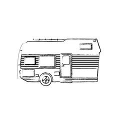 Trailer camping transport recreation tourism vector
