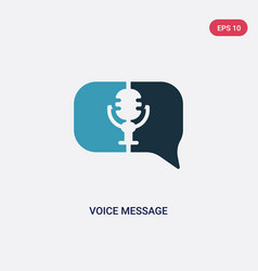 Two color voice message icon from user interface vector