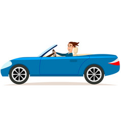 two door cabriolet passenger car with handsome vector image