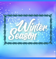 Winter season ice border background image vector