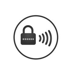 wireless lock icon smart lock security system vector image