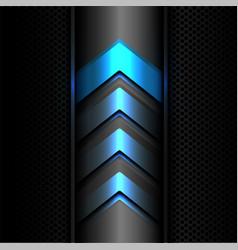 abstract blue arrow power light technology vector image vector image