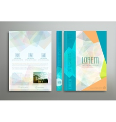 color template cover for business vector image vector image