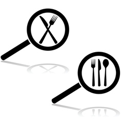 Restaurant search vector image
