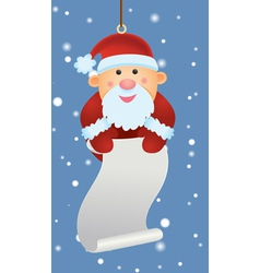 santa ornament holding letter vector image vector image