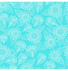 Seamless floral pattern with lace ornament vector