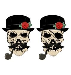 skull smoke vector image vector image