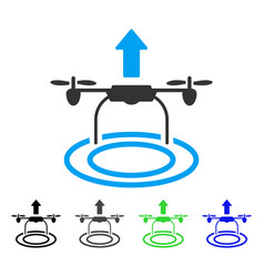 start drone flat icon vector image vector image