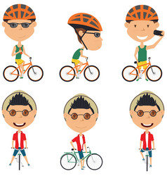 bicycle rider boys vector image