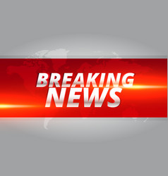 Breaking news concept design template for news vector