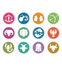 Horoscope zodiac signs astrology symbols vector