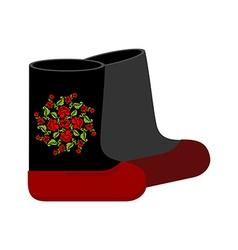 Russian felt boots Traditional winter warm shoes vector image vector image