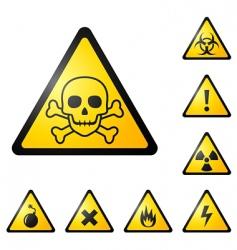 warning signs symbols vector image