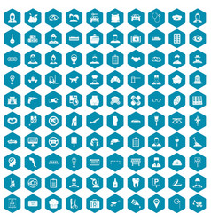 100 favorite work icons sapphirine violet vector image vector image