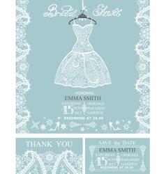 Bridal shower invitation setwinterwedding lace vector
