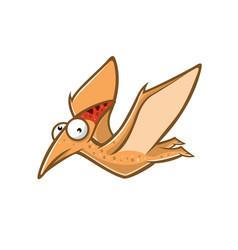 cartoon funny pteranodon vector image