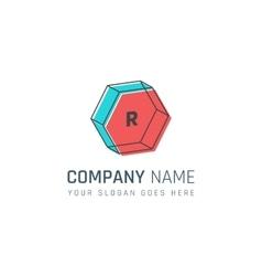 Geometric company logo vector image vector image
