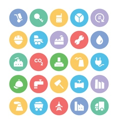 Industrial Colored Icons 1 vector image vector image