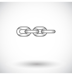 Link vintage flat icon vector image