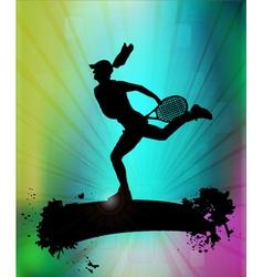 modern tennis vector image vector image