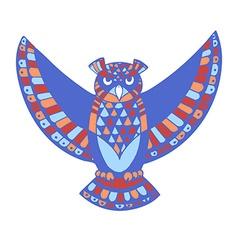 owl bird template vector image