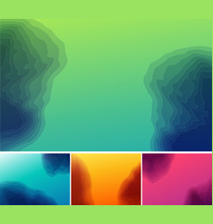 set of three banners abstract headers with step vector image