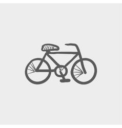 Bicycle sketch icon vector image vector image