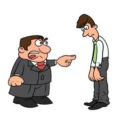 Boss screaming at clerk vector image